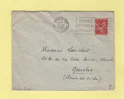 Frankers Secap - Paris XV - Donnez Au Secours National Entr'aide D Hiver - 1940 - Marcophilie (Lettres)
