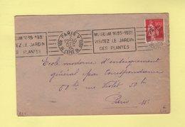 RBV - Paris V - Museum 1635-1935 Visitez Le Jardin Des Plantes - Marcophilie (Lettres)