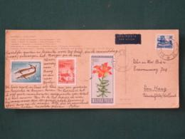 "Hungary 1968 Postacard ""Budapest Ships Church Painting Bridges"" To Holland - Fishes Flowers Plane Ship - Hungary"