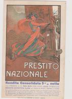 Pubblicitaria, Prestito Nazionale, Periodo I° Guerra Mondiale , Illustrata Da Andrea Petroni  - F.p. -  Anni '1910 - Pubblicitari