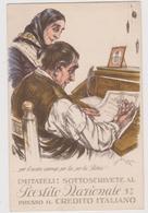 Pubblicitaria, Prestito Nazionale C\o Credito Italiano Illustrata Da Aldo Mazza  - F.p. -  Anni '1920 - Pubblicitari