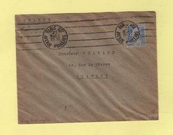 Krag - Paris XIV - 4 Lignes Droites Inegales - Marcophilie (Lettres)