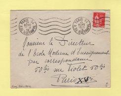Krag - Paris 94 - 5 Lignes Ondulees Et Bloc Dateur 4 Lignes - Marcophilie (Lettres)