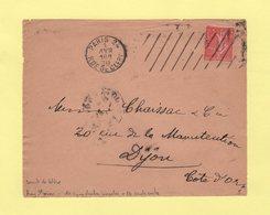 Krag 3e Generation - Paris 24 - 10 Lignes Droites Inegales - Devant De Lettre - Marcophilie (Lettres)
