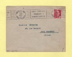 RBV - Paris 96 (avec Tiret) - Aidez L Entr'aide Francaise A Vaincre La Misere - Marcophilie (Lettres)