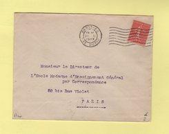 RBV - Paris 80 - 7 Lignes Ondulees Serrees - Marcophilie (Lettres)