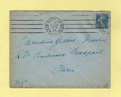 Krag - Paris 120 - 4 Lignes Droites Inegales - Marcophilie (Lettres)