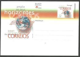 Portugal 2001 - Postal Stationery Mail World Day - Postwaardestukken