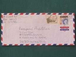 USA 1985 Cover Hoksville - Sound Beach To England - Ameripex 86 Stamp On Stamp - Veterans Korea War Soldiers - Etats-Unis