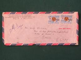 USA 1985 Cover To Cairo Egypt - Winter Special Olympics - Ski Skating - Egypt Cancel On Back - Etats-Unis