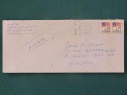 USA 1985 Cover To England - Flags Capitol - Etats-Unis