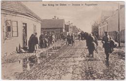 Poland Polska Germany Deutschland, Der Krieg Im Osten, Strasse In Augustowo, Augustow - Polonia
