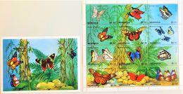 # Nicaragua 1995**Mi.3621-33  Butterflies , MNH [25;25] - Schmetterlinge