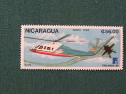 Nicaragua 1988 Mint Stamp Finlandia Helicopter - Higher Value Of The Set - Nicaragua