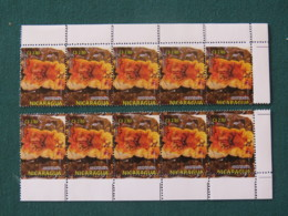 """Nicaragua 2017 MINT Stamp Food - Shifted Perforation - """"Nicaragua"""" Cutted Down - Nicaragua"""