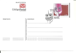 Portugal 2004 - Postal Stationery Masks First Day Cancel - Postwaardestukken