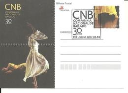 Portugal 2007 - Postal Stationery 30 Years Ballett National Company Fdc - Interi Postali
