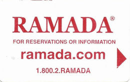 Ramada Hotel Room Key Card - Hotel Keycards
