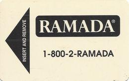 Ramada Hotel Room Key Card - 1/00 Manufacturer Mark On Reverse - Hotel Keycards