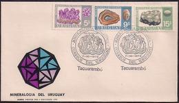 Uruguay - 1972 - FDC - Minéralogie De L'Uruguay - Améthyste - Agata - Calédonie - Minerals