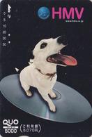 Carte Prépayée Japon - ANIMAL - CHIEN NIPPER VOIX DE SON  MAITRE - HIS MASTER'S VOICE DOG Japan QUO Card - 1330 - Chiens