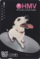 Carte Prépayée Japon - ANIMAL - CHIEN NIPPER VOIX DE SON  MAITRE - HIS MASTER'S VOICE DOG Japan QUO Card - 1331 - Chiens