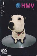Carte Prépayée Japon - ANIMAL - CHIEN NIPPER VOIX DE SON  MAITRE - HIS MASTER'S VOICE DOG Japan QUO Card - 1332 - Chiens