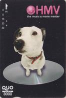 Carte Prépayée Japon - ANIMAL - CHIEN NIPPER VOIX DE SON  MAITRE - HIS MASTER'S VOICE DOG Japan QUO Card - 1333 - Chiens