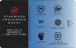 Starwood Hotel Room Key Card - Hotel Keycards