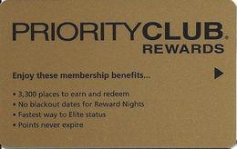 Priority Club Rewards Hotel Room Key Card - Hotel Keycards