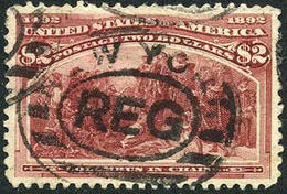 US #242 XF Used $2 Columbian Exposition Of 1893 - Used Stamps