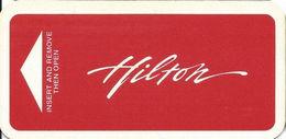 Hilton Narrow Hotel Room Key Card - Hotel Keycards