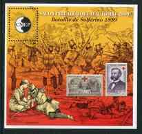 """FEUILLET-SOUVENIR** De 2009 De La CNEP """"SALON PHILATELIQUE D'AUTOMNE à PARIS - Bataille De Solferino 1859"""" - CNEP"""