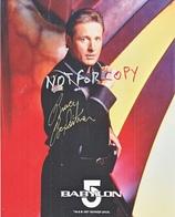 AUTOGRAPHED  PHOTO   BABYLON  5    Signed By   CAPT. SHERIDAN - Autographs