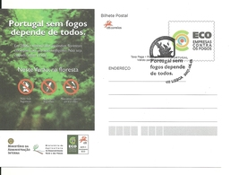 Portugal 2007 - Postal Stationery Portugal Without Fires Fdc - Postwaardestukken