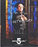 AUTOGRAPHED  PHOTO   BABYLON  5    Signed By  PETR  JURASIK  ( LANDO ) - Autographs