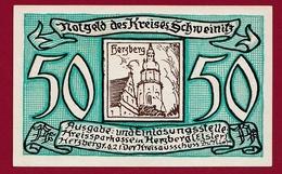 Allemagne 1 Notgeld 50 Pfenning Stadt Schweinitz ( RARE) Dans L'état Lot N °4340 - Collections