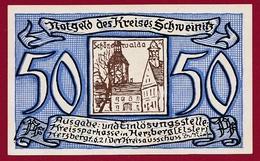 Allemagne 1 Notgeld 50 Pfenning Stadt Schweinitz ( RARE) Dans L'état Lot N °4340 Bis - Collections