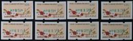Set Of 2014 ATM Frama Stamps-Plum Blossom & Bird-Green Imprint Unusual - Philatelic Exhibitions