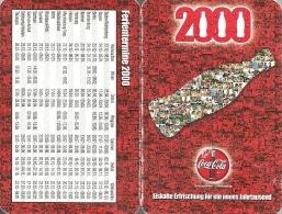 COCA-COLA * SOFT DRINK * CALENDAR * Coca-Cola 2000 * Germany - Calendarios