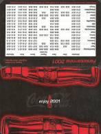 COCA-COLA * SOFT DRINK * CALENDAR * Coca-Cola 2001 * Germany - Calendarios