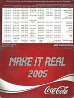COCA-COLA * SOFT DRINK * CALENDAR * Coca-Cola 2005 * Germany - Calendarios