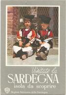 W3932 Cartolina Pubblicitaria - Visitate La Sardegna - Folklore - Bambini Children Enfants Kinder Nino  / Viaggiata 1960 - Pubblicitari