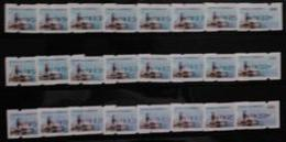 Set Collection-2013 ATM Frama Stamps-ROCUPEX'13 TAIPEI - Presidential Mansion Black,Green & Red Relic Unusual - Philately & Coins