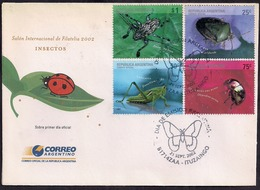 Argentina - 2002 - FDC - Insectes - Insetti