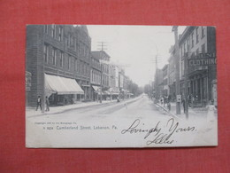 Rotograph  Cumberland Street  Lebanon - Pennsylvania      Ref 3488 - United States