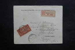 FRANCE - Enveloppe En Recommandé De Le Coteau Pour Bourges En 1918 , Affranchissement  Merson - L 35278 - Marcophilie (Lettres)
