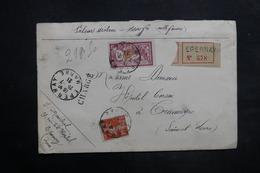 FRANCE - Enveloppe En Recommandé Chargé De Epernay Pour Tramayes En 1921 , Affranchissement  Merson / Semeuse - L 35279 - Marcophilie (Lettres)
