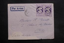 A.E.F. - Enveloppe De Fort Lamy Pour Macon, Affranchissement France Libre - L 35295 - Covers & Documents