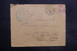 FRANCE - Enveloppe En Recommandé De Dinan Pour Jugon En 1889 , Affranchissement Sage - L 35296 - Marcophilie (Lettres)